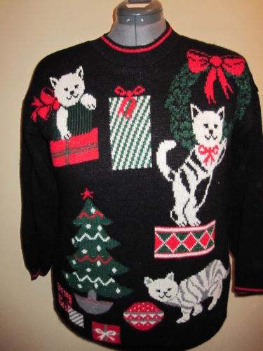 Christmas Cat Sweaters | Shit My Cake Says