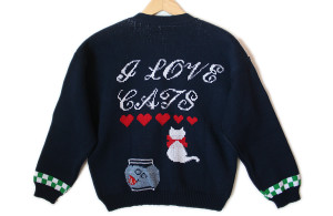 Vintage-90s-I-Love-Cats-Cat-Lady-Tacky-Ugly-Sweater-Womens-Size-Large-L-21-300x195